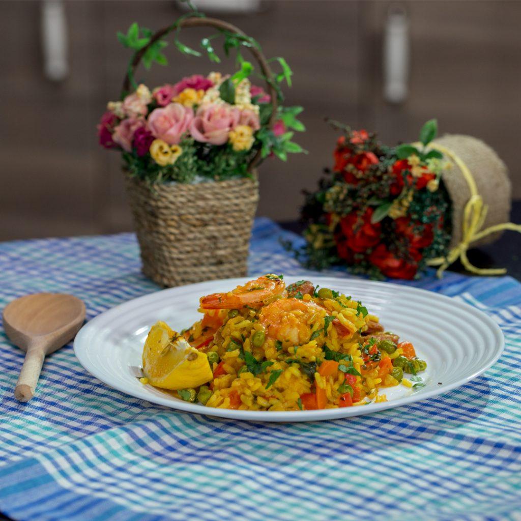 how to cook chicken and chorizo paella