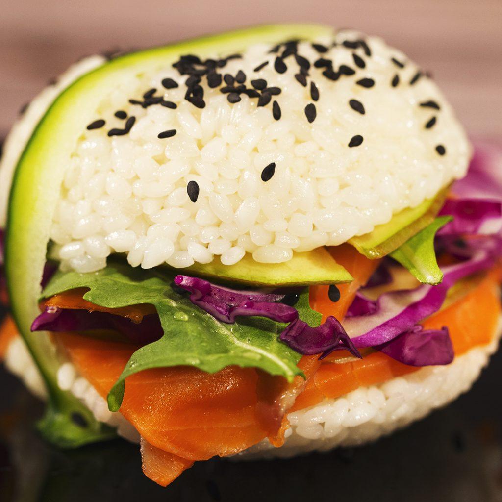Mini Sushi Burgers - So Delicious