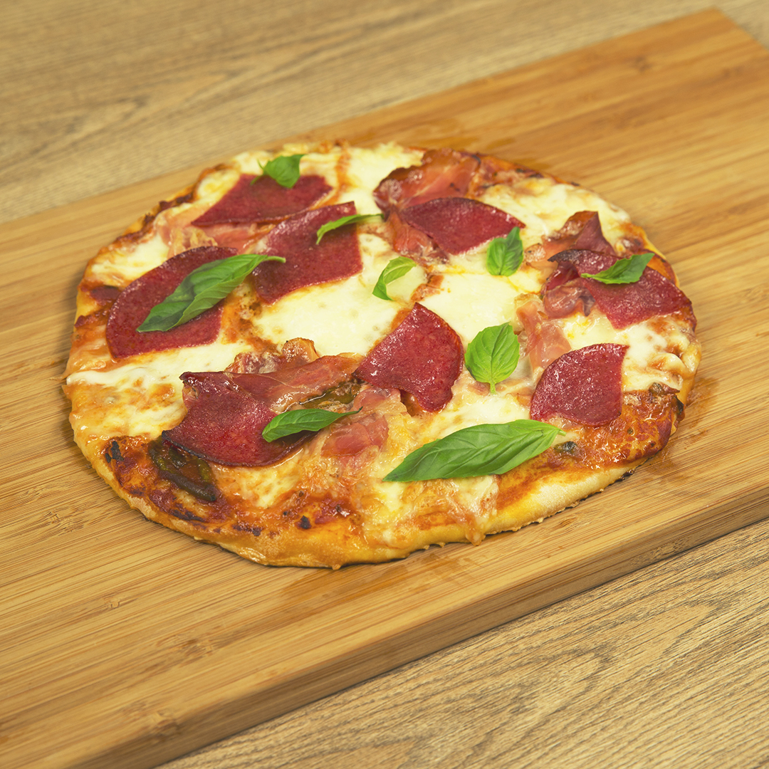Prosciutto and Salami Pizza