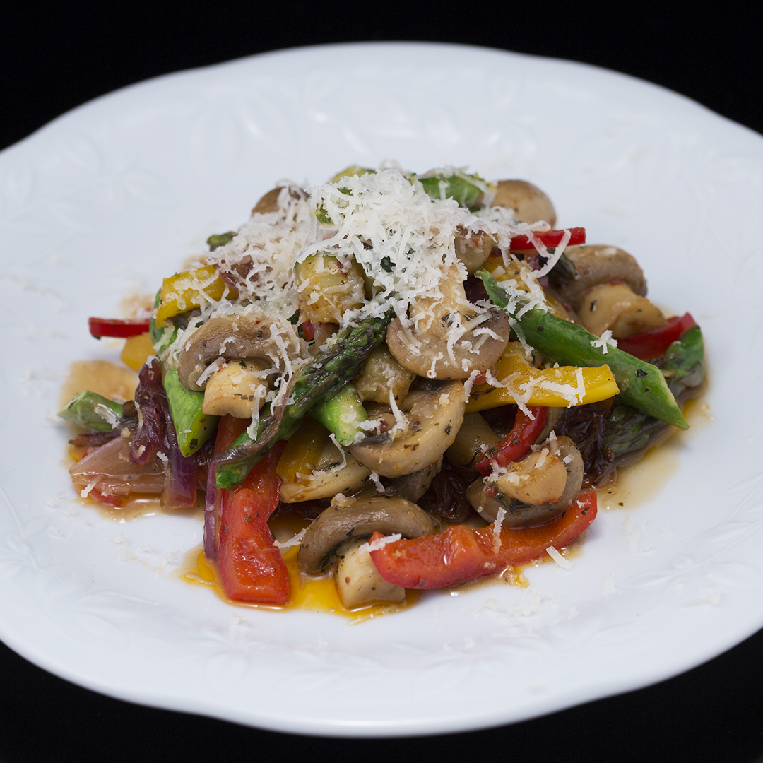 Mushroom, Asparagus and Bell Pepper Stir-Fry