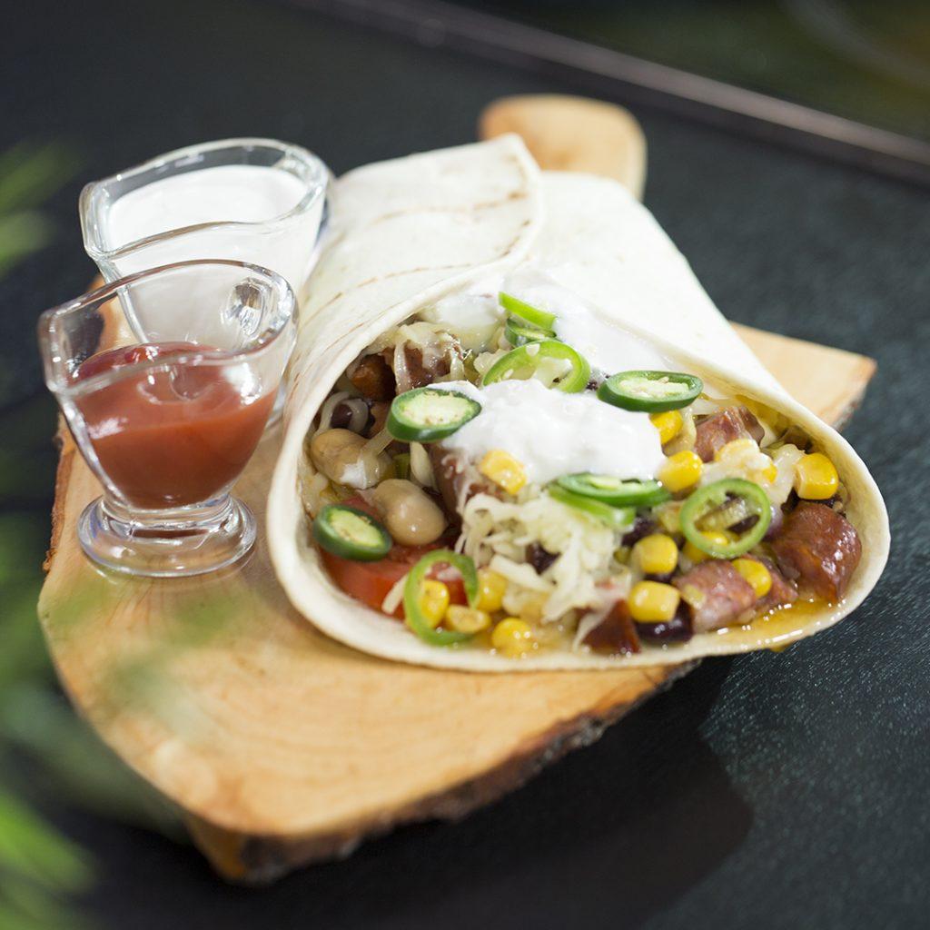 Mexican Sausage Tortilla Wraps - So Delicious