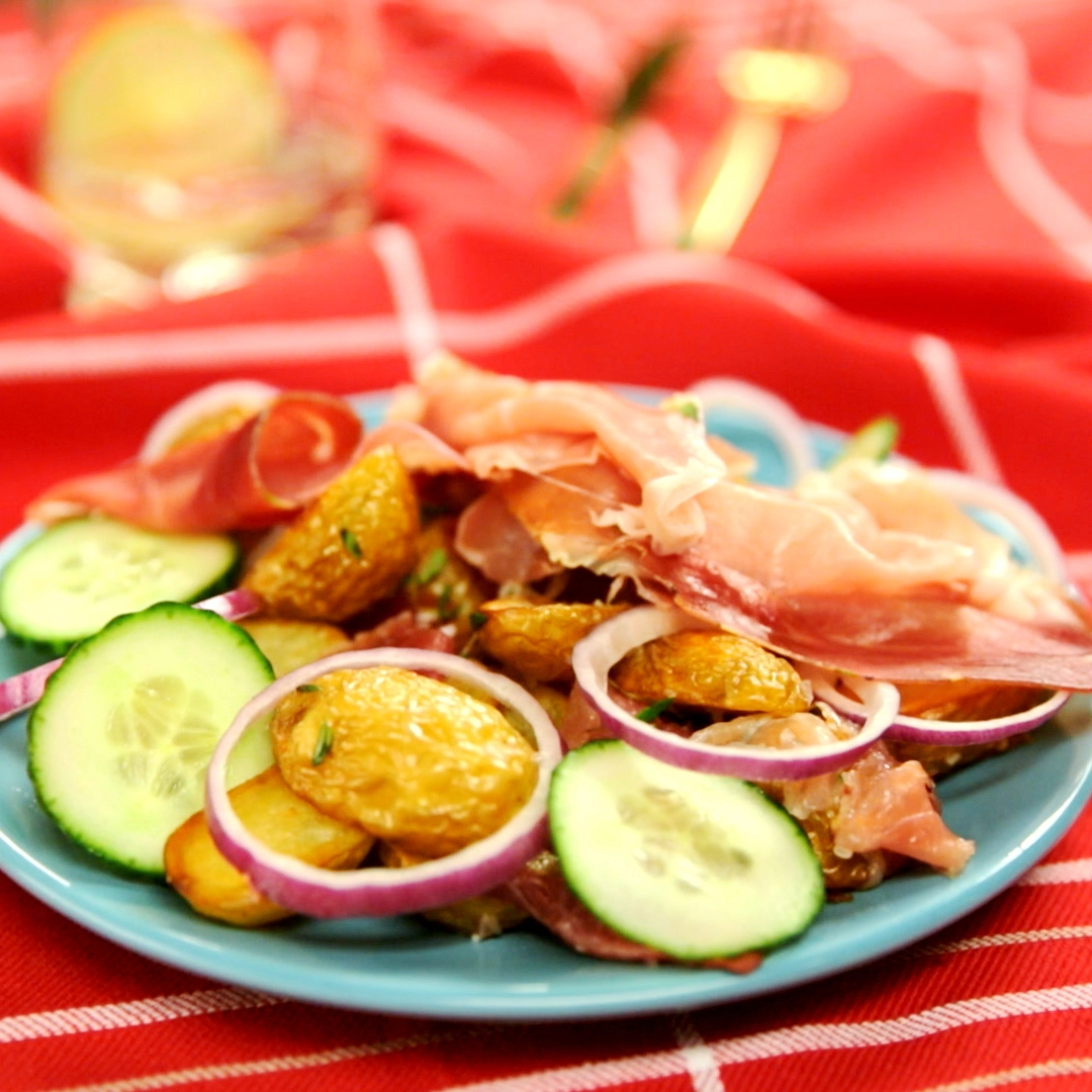 Warm Potato and Prosciutto Salad