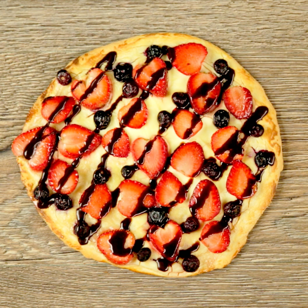 Fruits and Cheese Pizza
