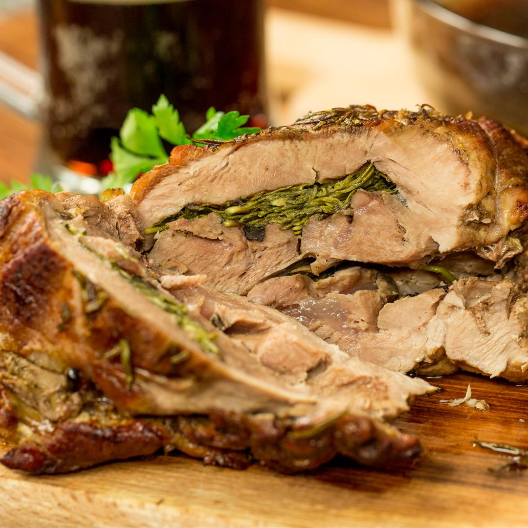 Beer-Braised Pork Roll