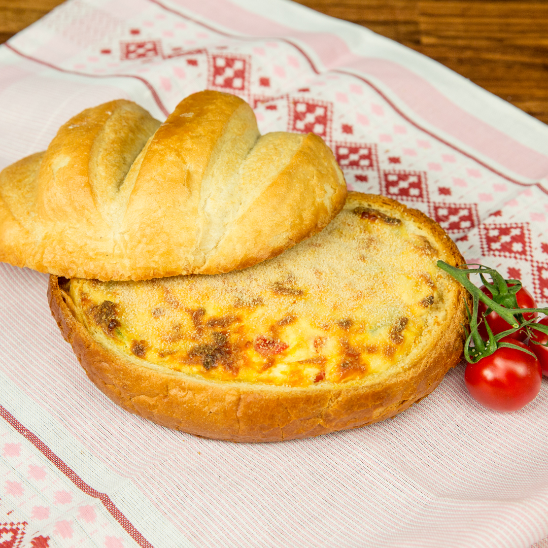 Egg and Cheese Bread Bowl