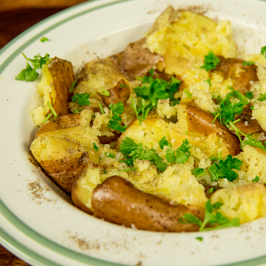 Butter Smashed Potatoes