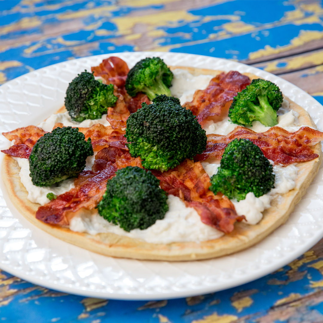 Stovetop Pizza with Broccoli and Ricotta