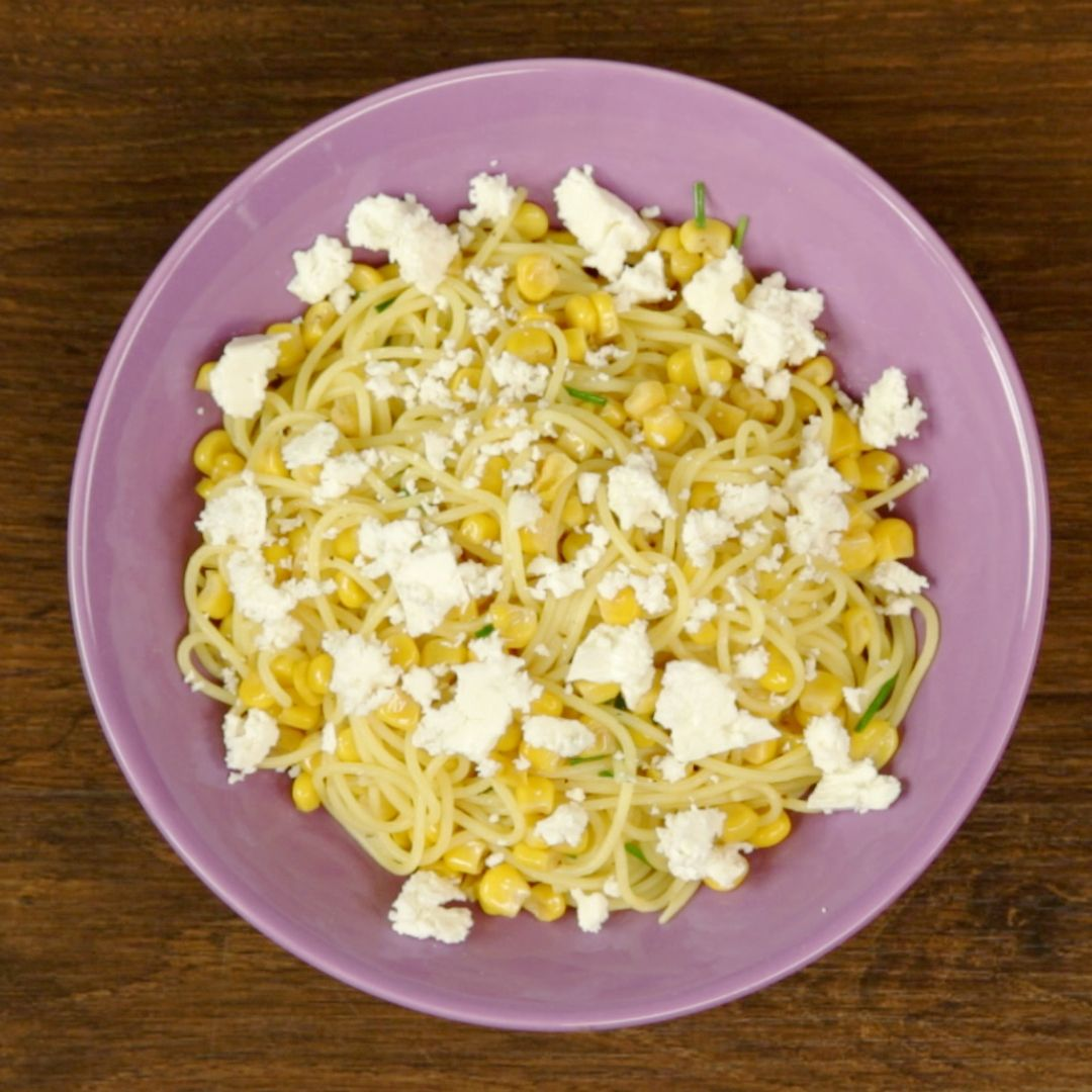 Sweet Corn and Cheese Spaghetti