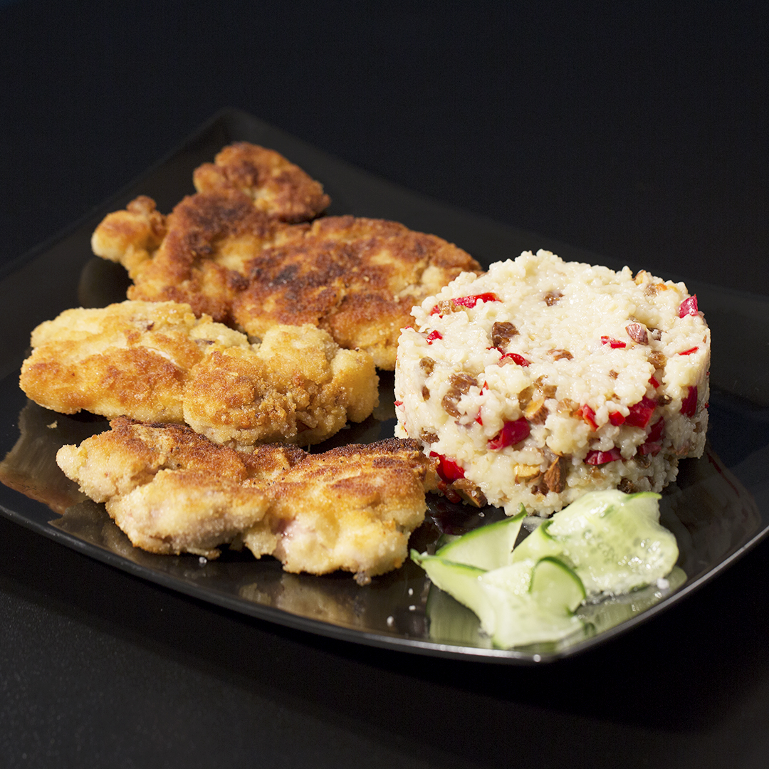 Crispy Chicken Thighs with Bulgur Risotto