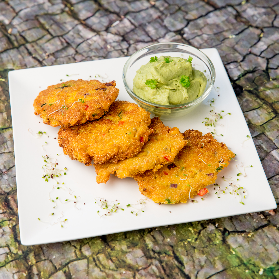 Cornmeal and Veggie Fritters