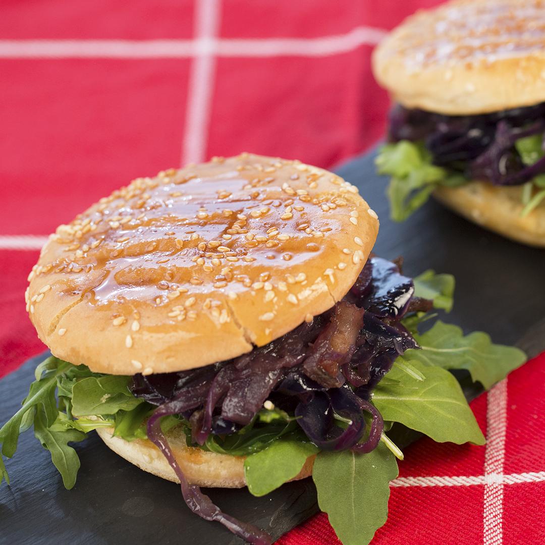 Beef, Pancetta and Braised Cabbage Sandwich