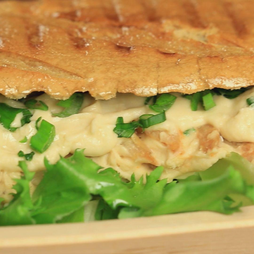 Chicken and Hummus Grilled Sandwich