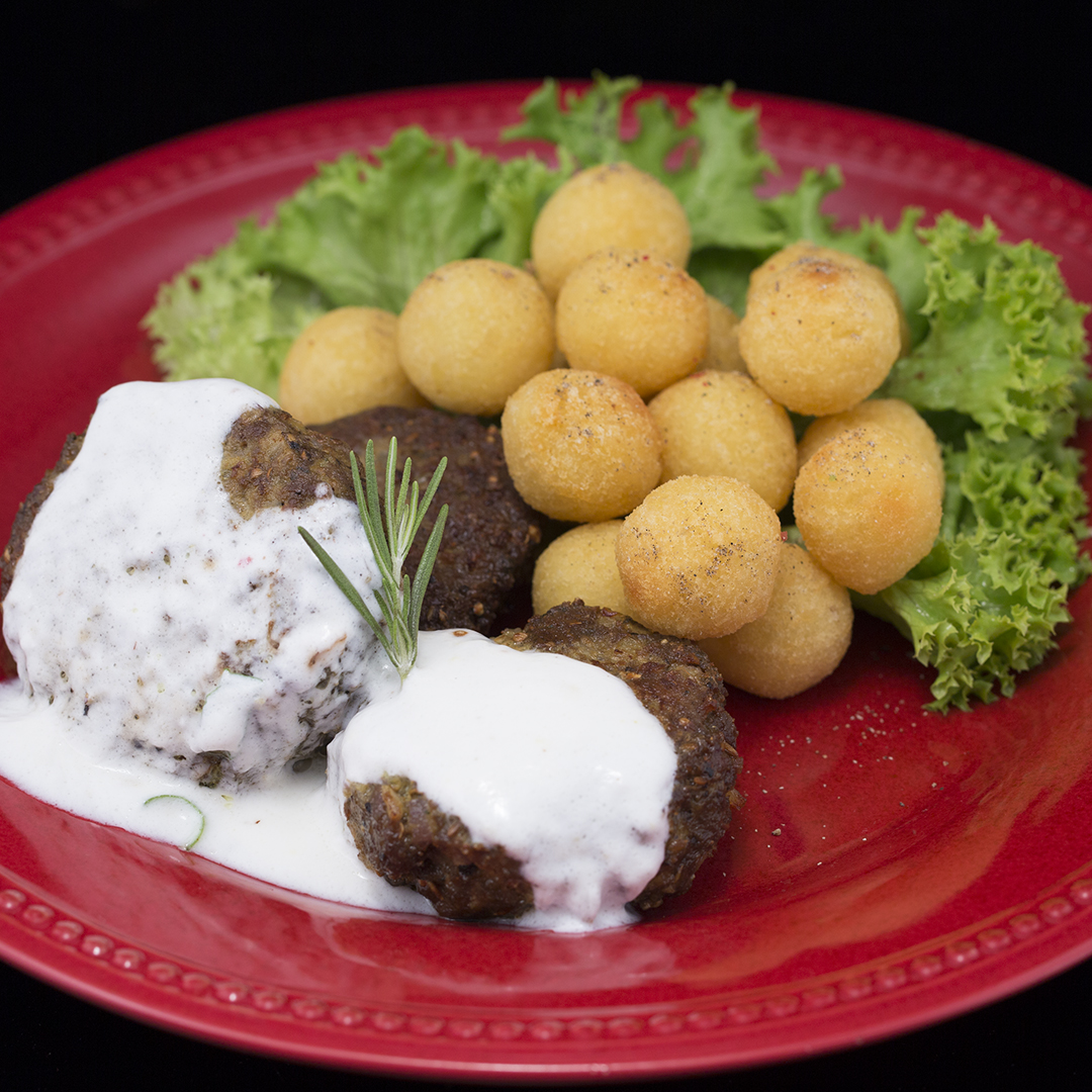 Spicy Lamb Meatballs with Yogurt and Mint Sauce