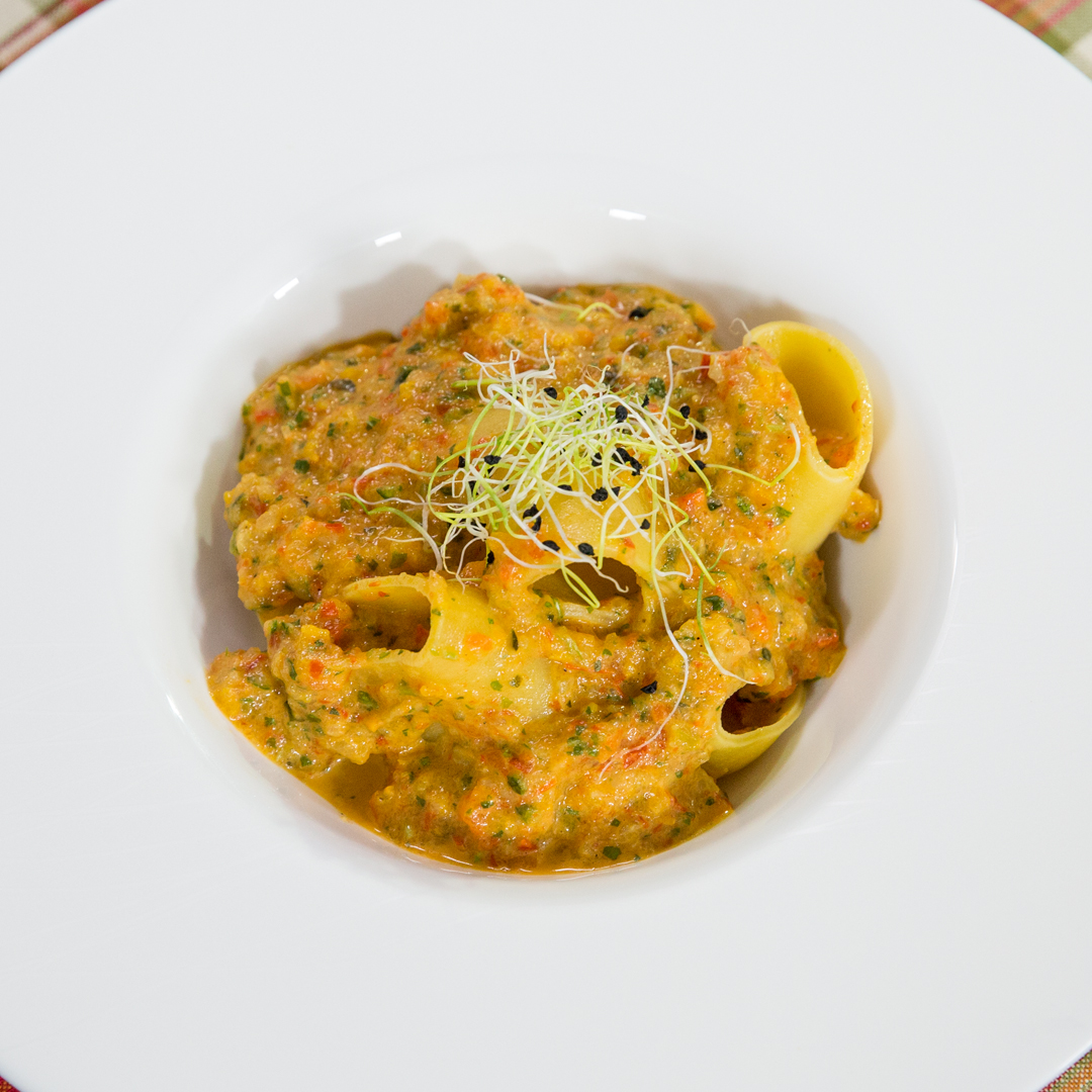 Paccheri Pasta with Veggie Sauce