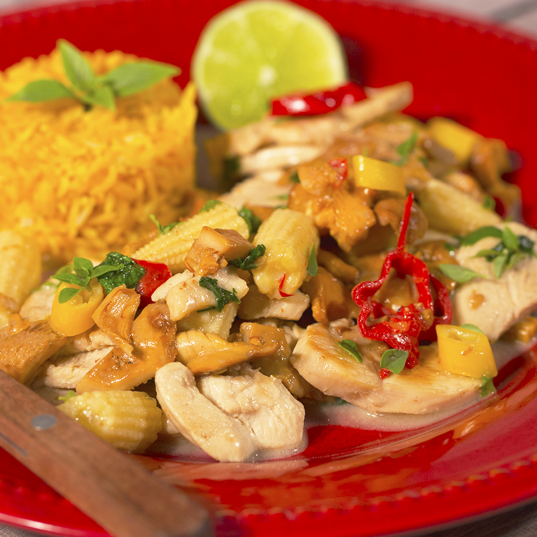 Chicken with Chanterelles and Coconut Milk