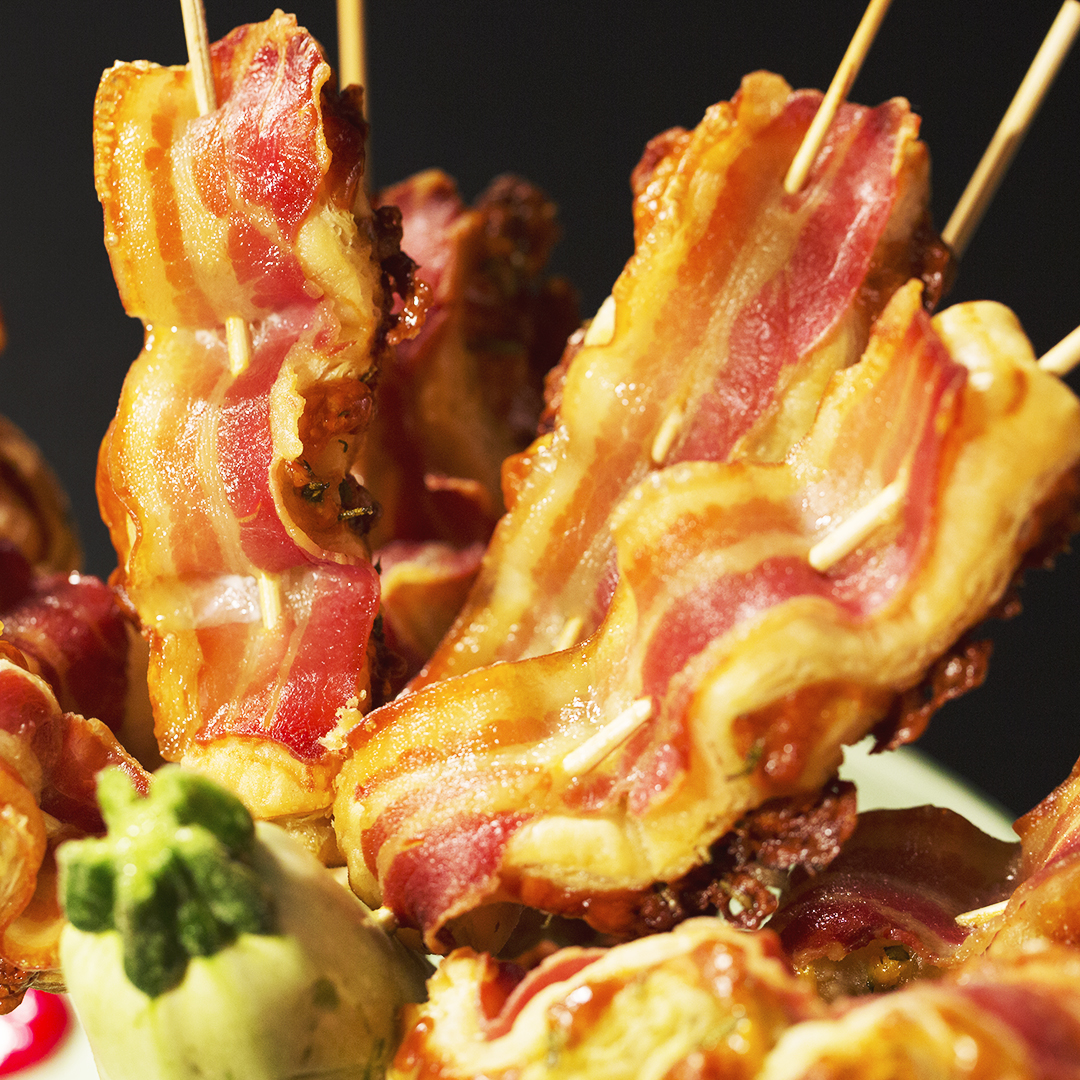 Bacon and Puff Pastry Skewers