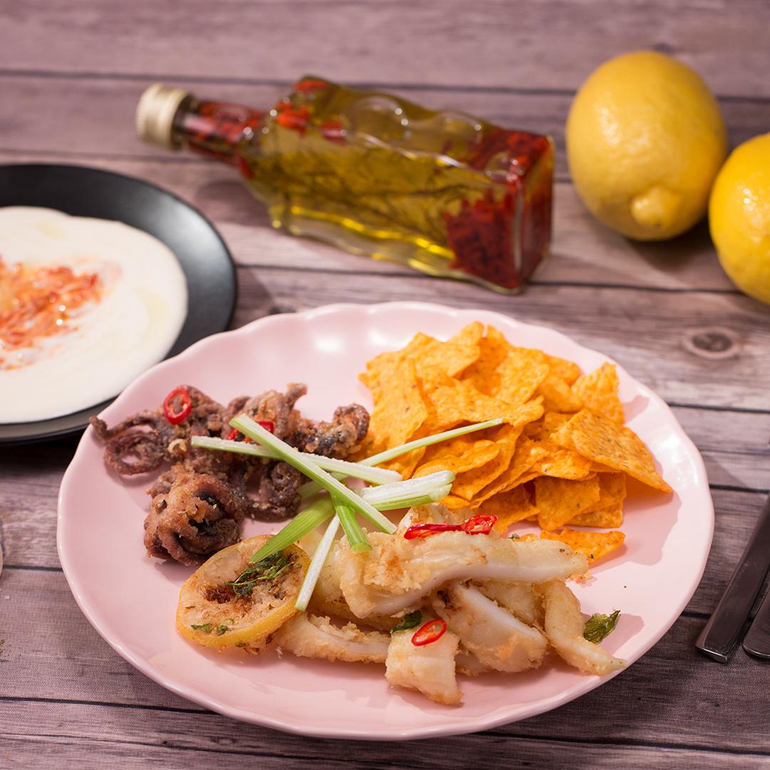 Deep-Fried Seafood with Mayo Sauce