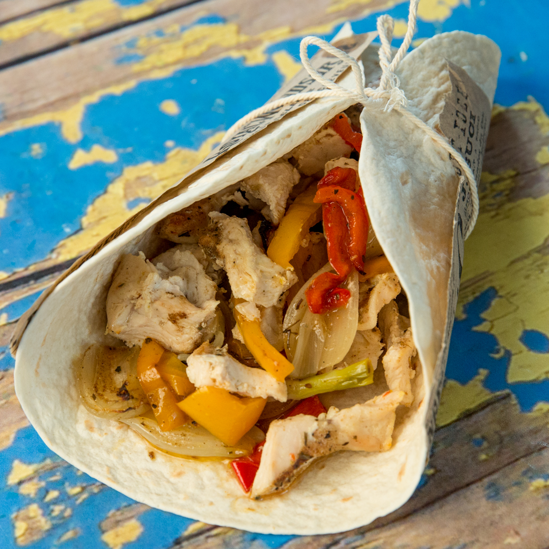 Roasted Chicken and Veggie Wrap