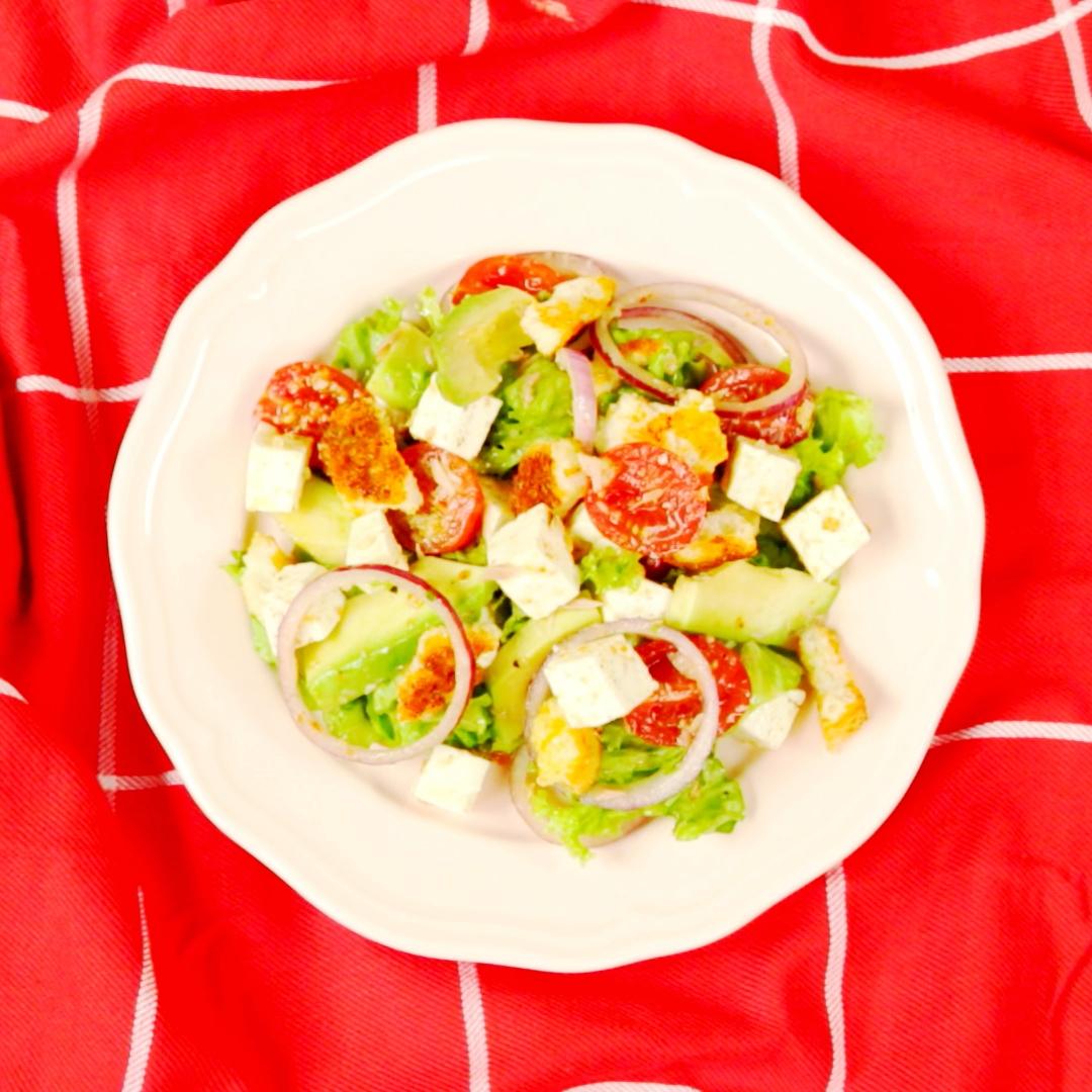Feta and Crouton Salad