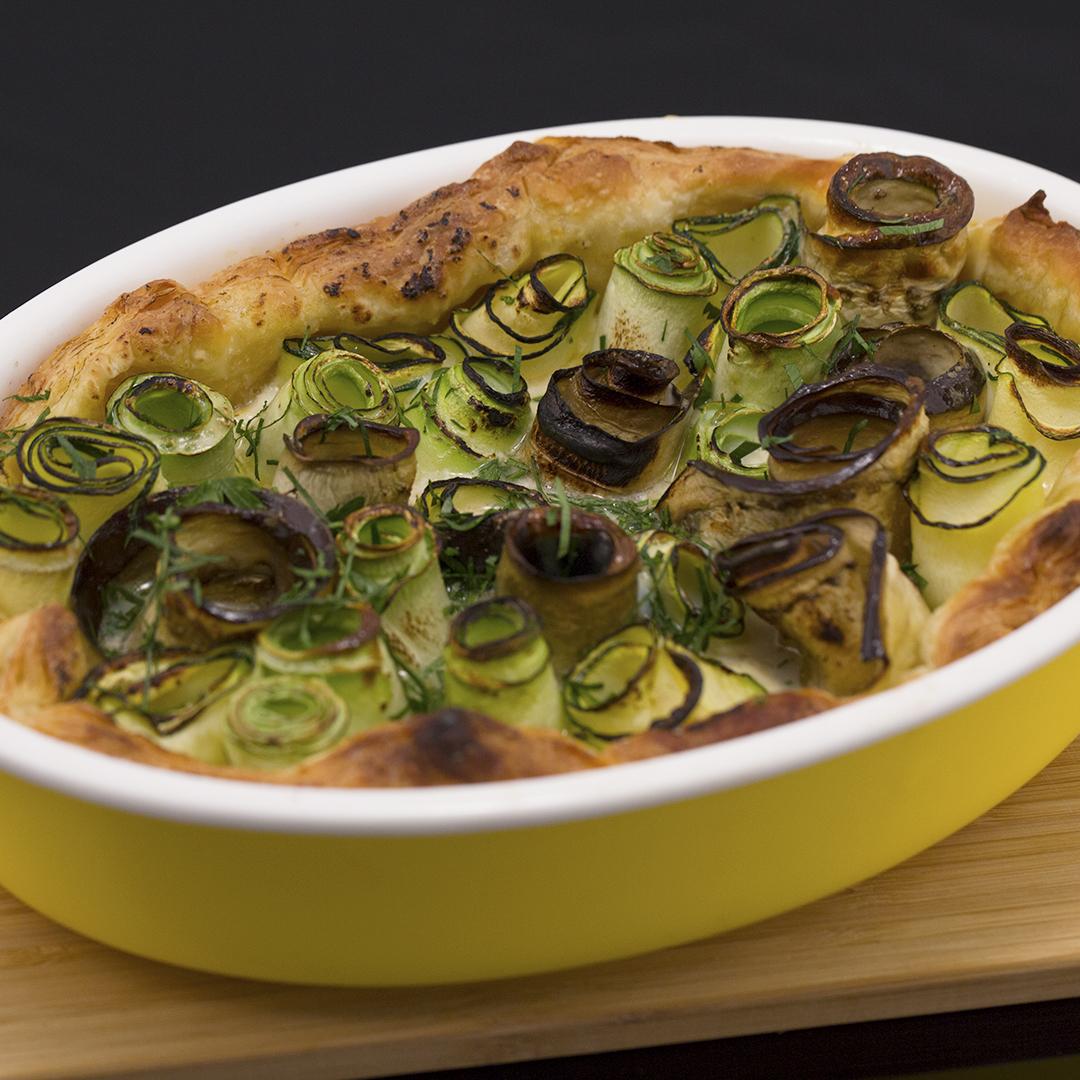 Eggplant and Zucchini Roll Ups