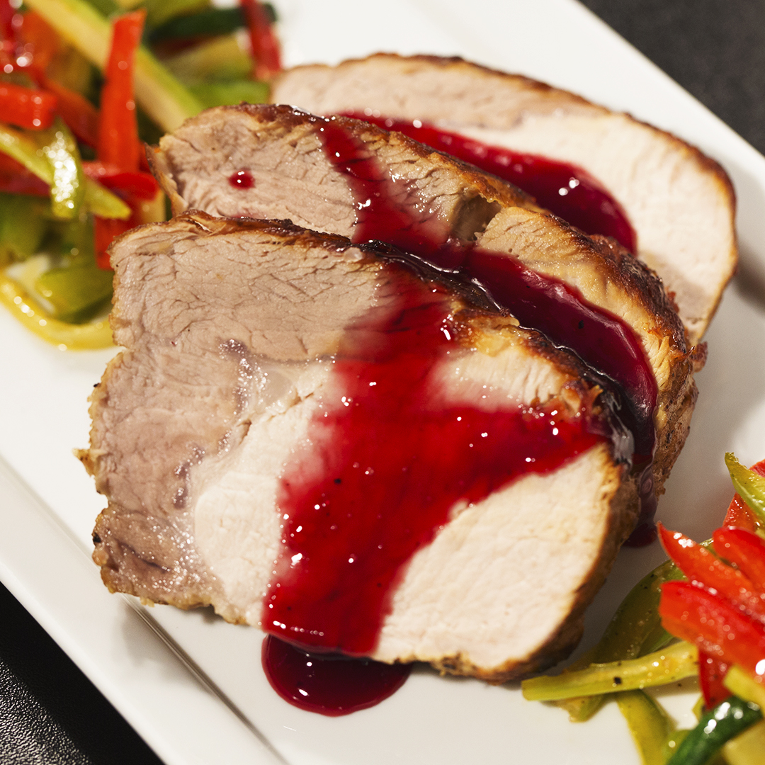 Pork Tenderloin with Berry Sauce