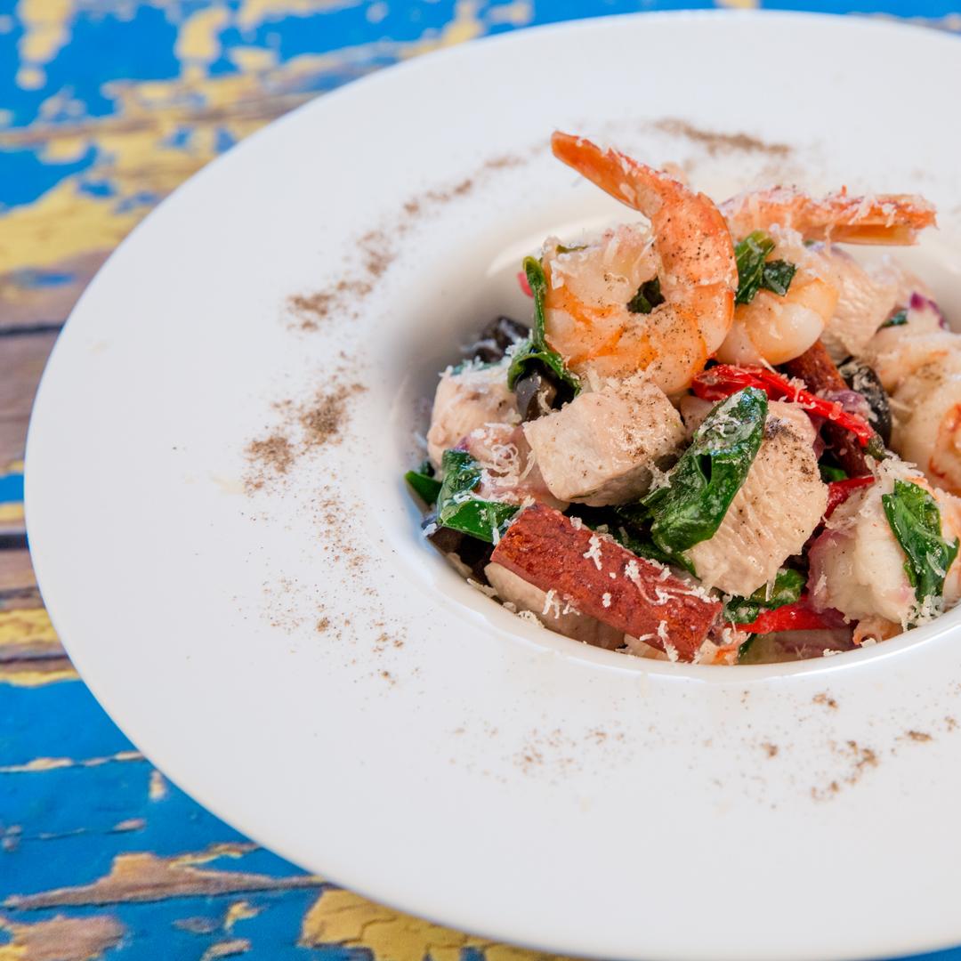 Chicken and Shrimp Stir-Fry