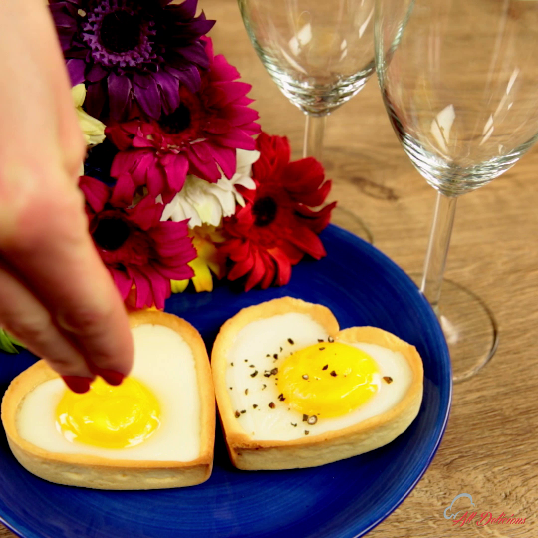 Heart-Shaped Egg Tarts