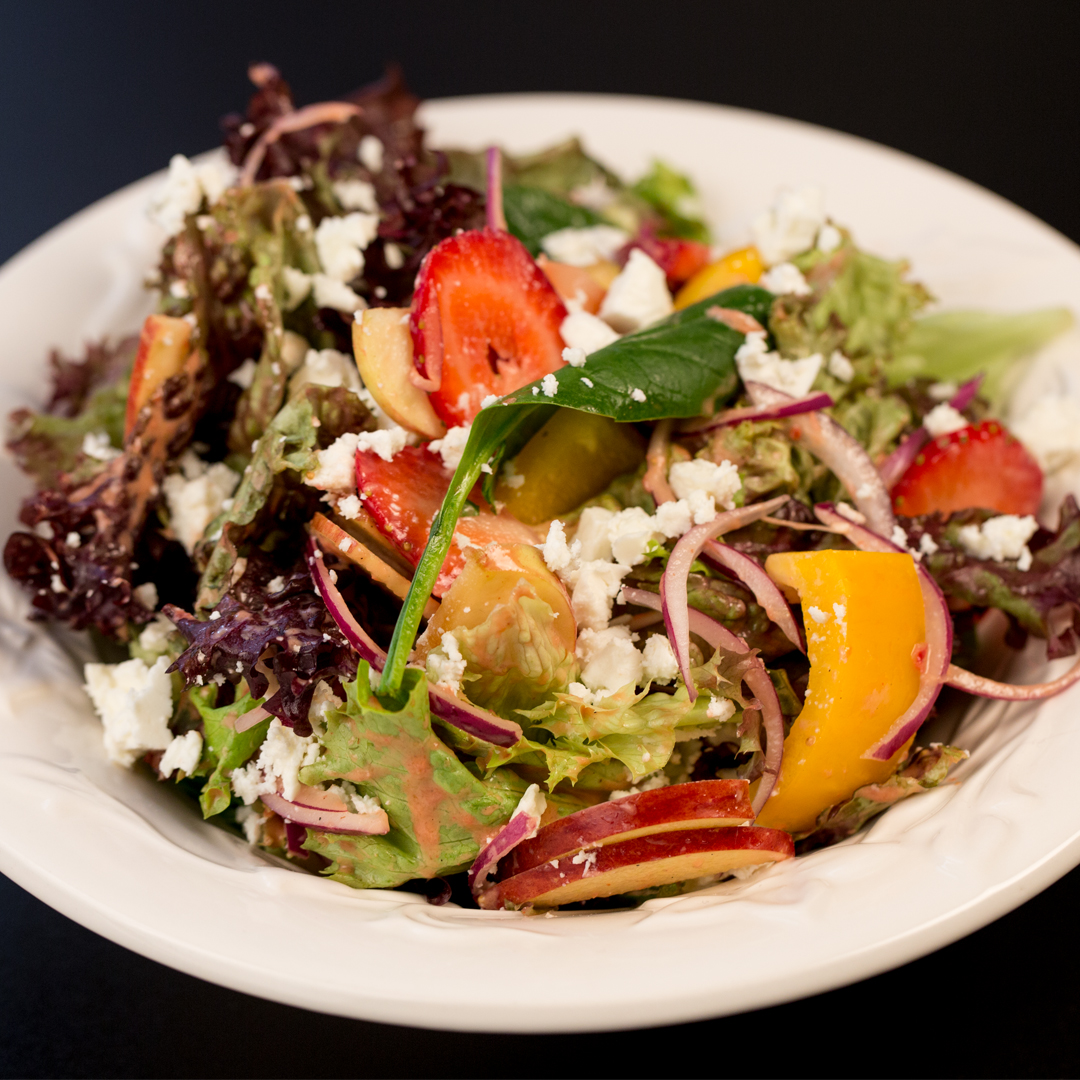 Lettuce Salad with Strawberry Vinaigrette