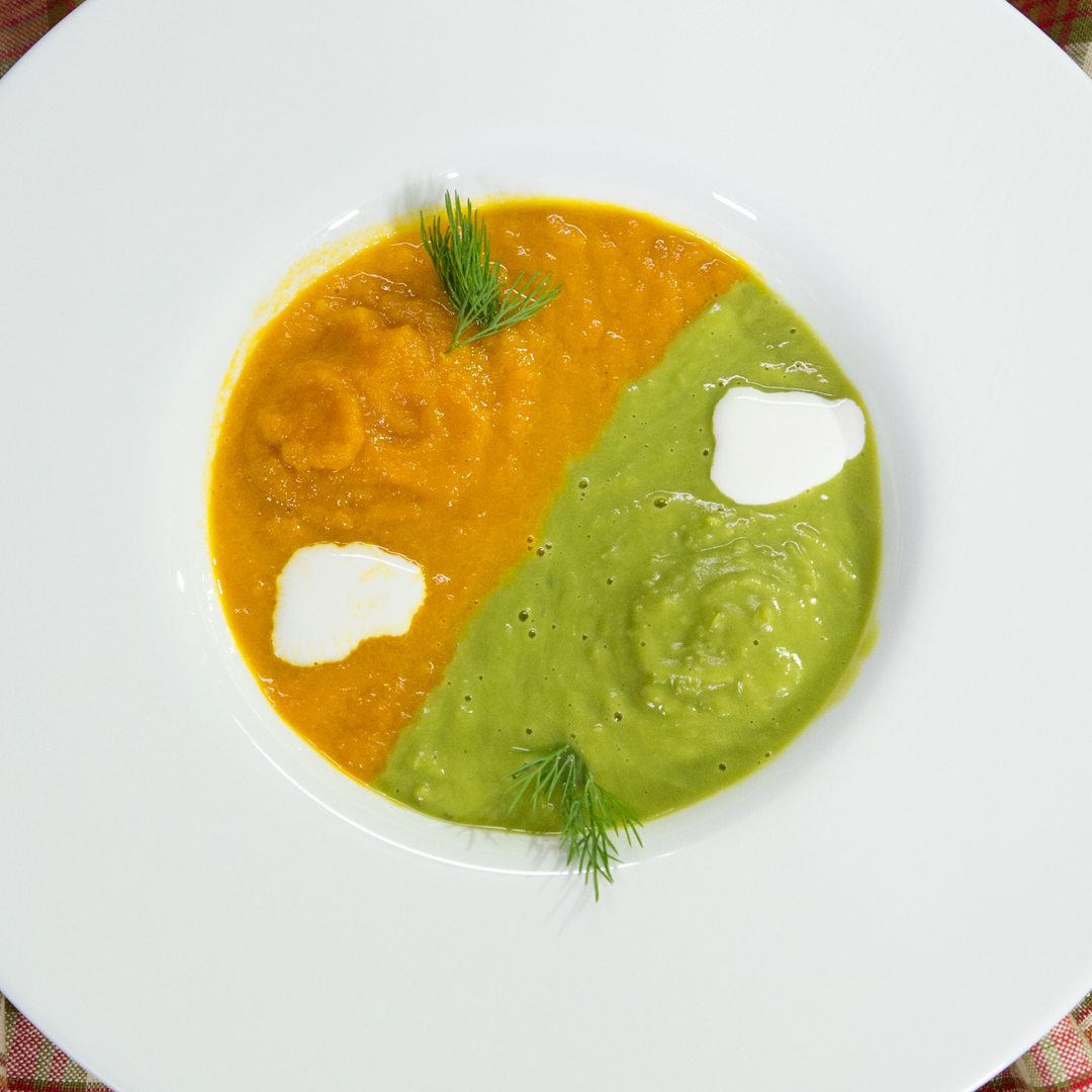 Pea and Carrot Soup
