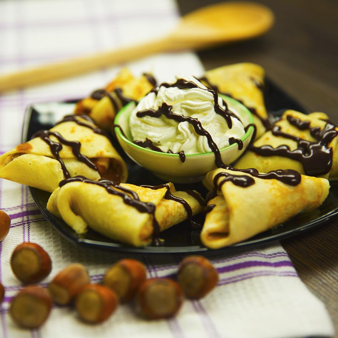 Chocolate and Banana Crepes