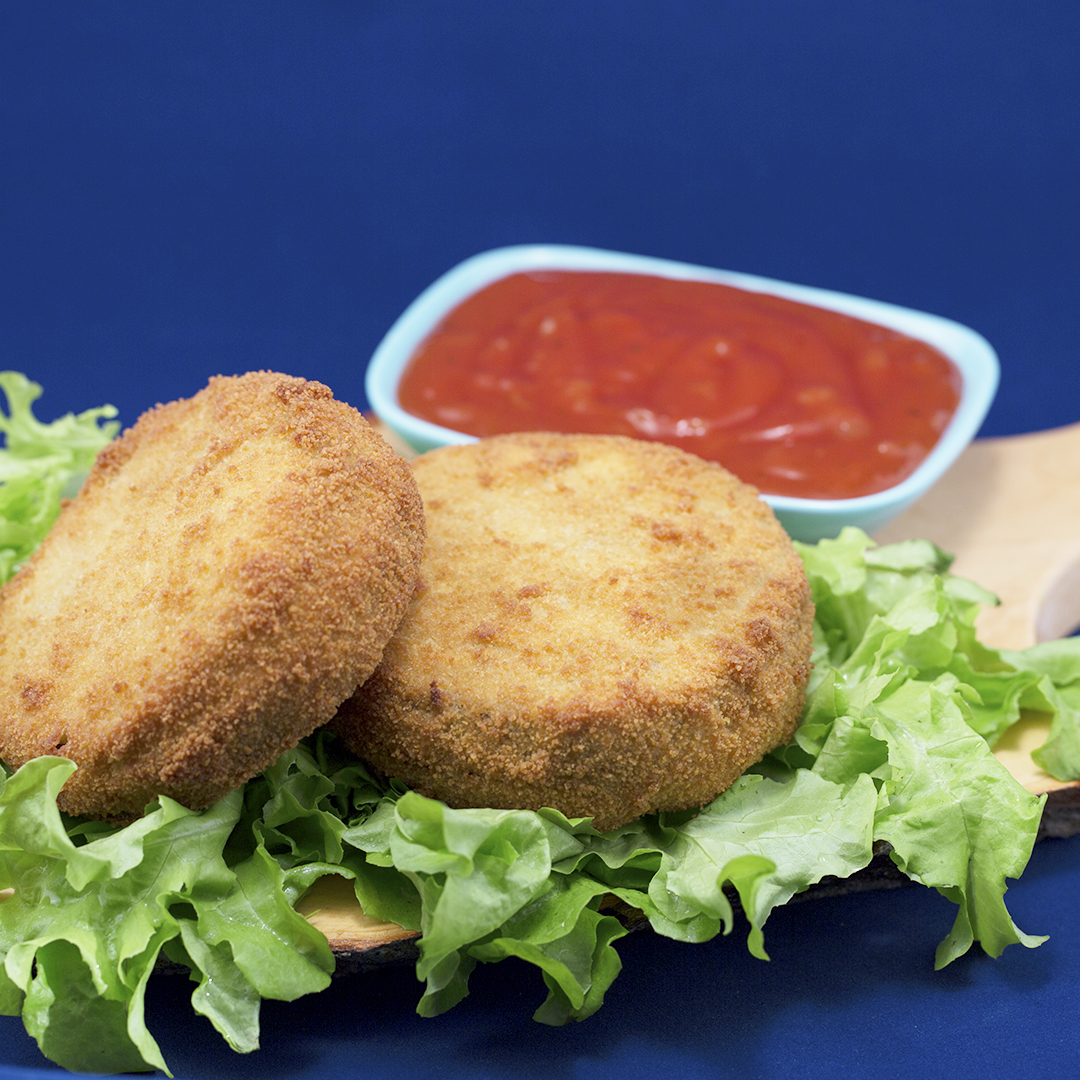 Cheese-Filled Deep-Fried Eggplant Rounds