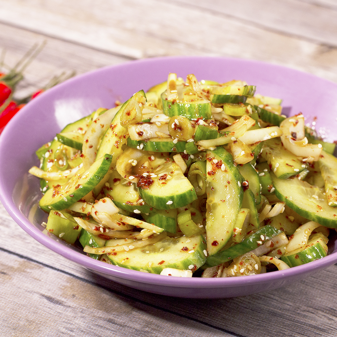 Cucumber and Onion Salad with Soy Sauce Dressing