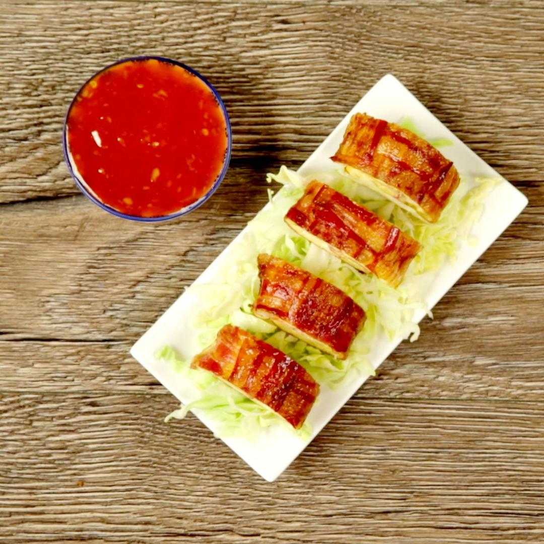 Bacon Weave Egg Roll