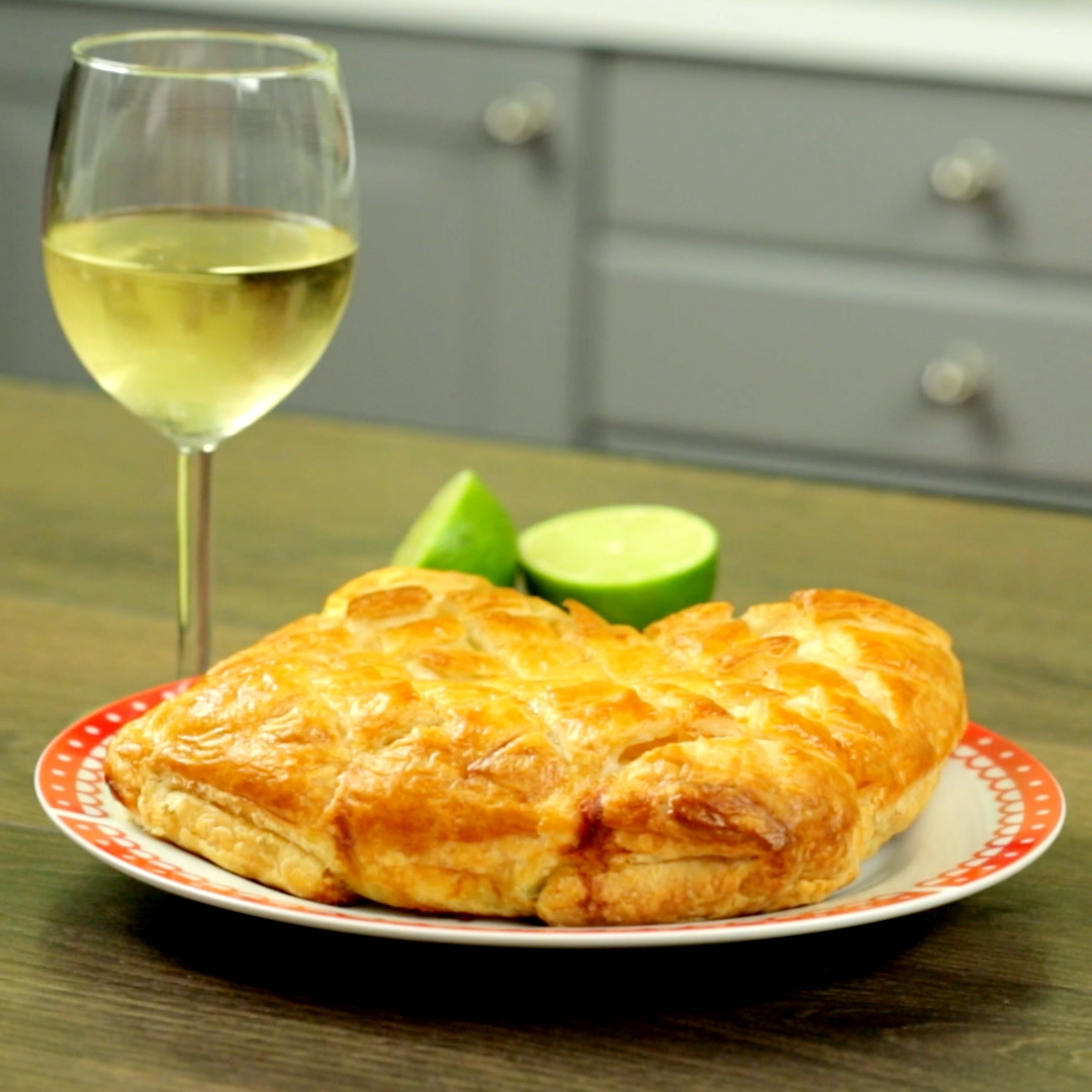 Salmon and Spinach Puff Pastry