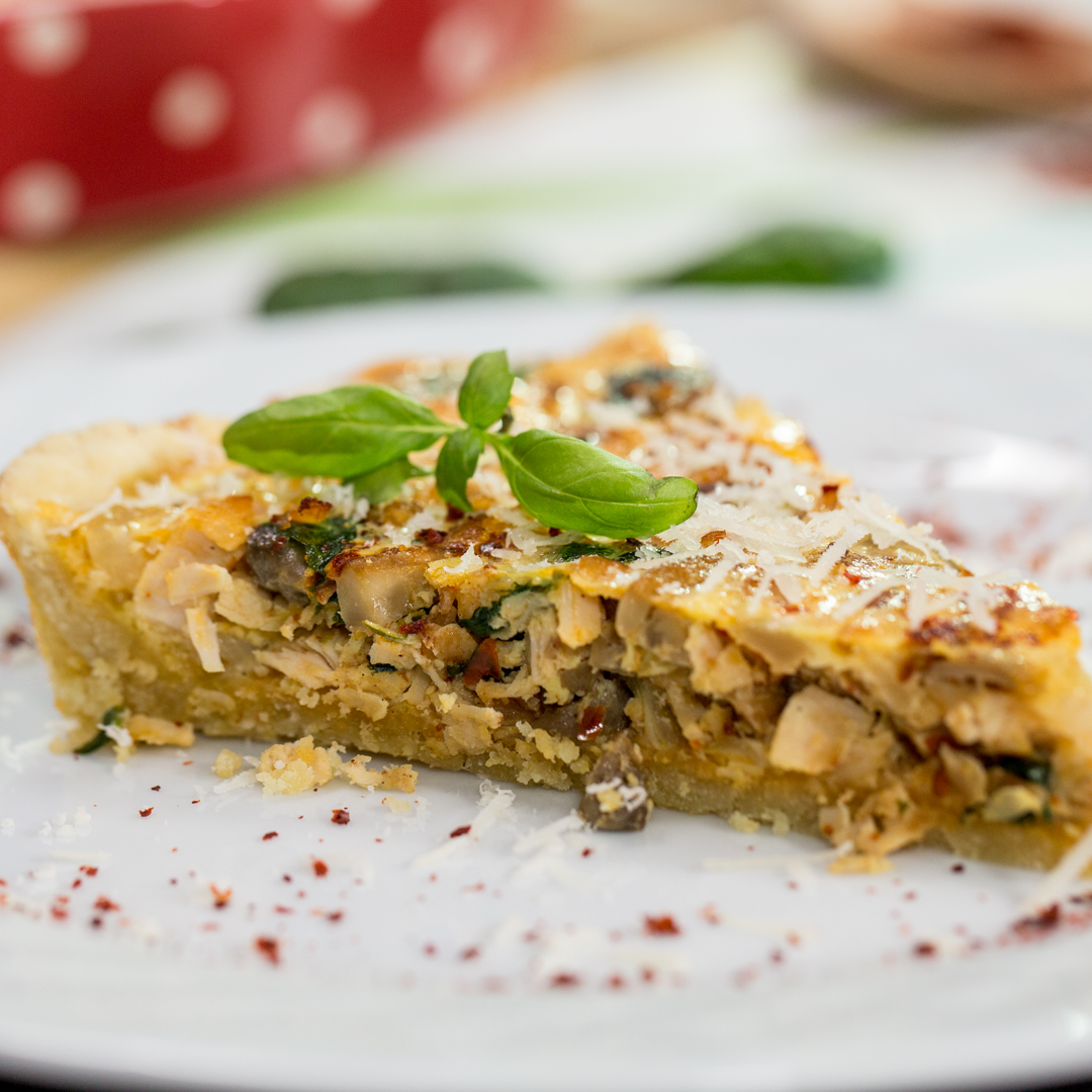 Ham, Leek, and Broccoli Quiche - So Delicious
