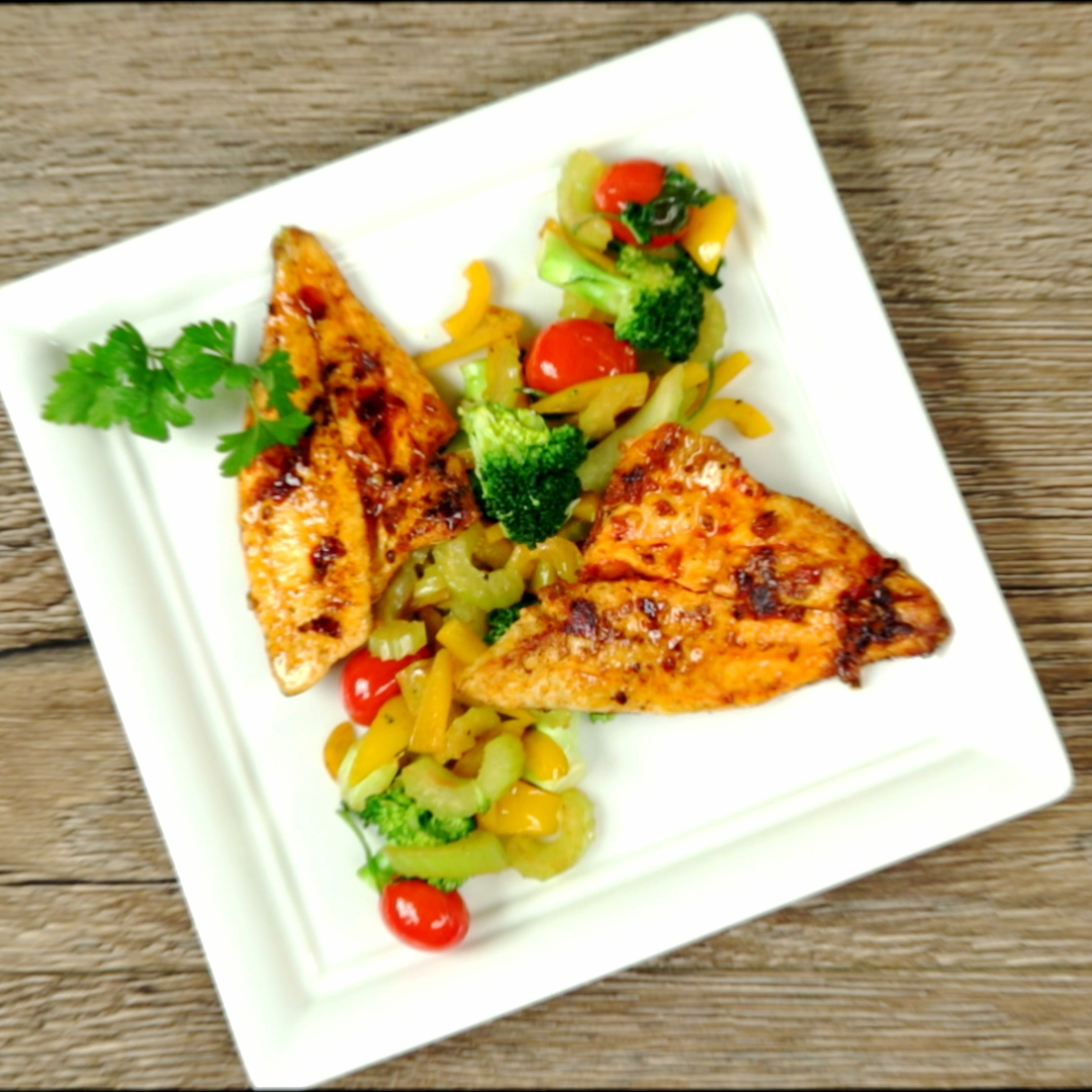 Spicy Sea Bream with Veggie Side