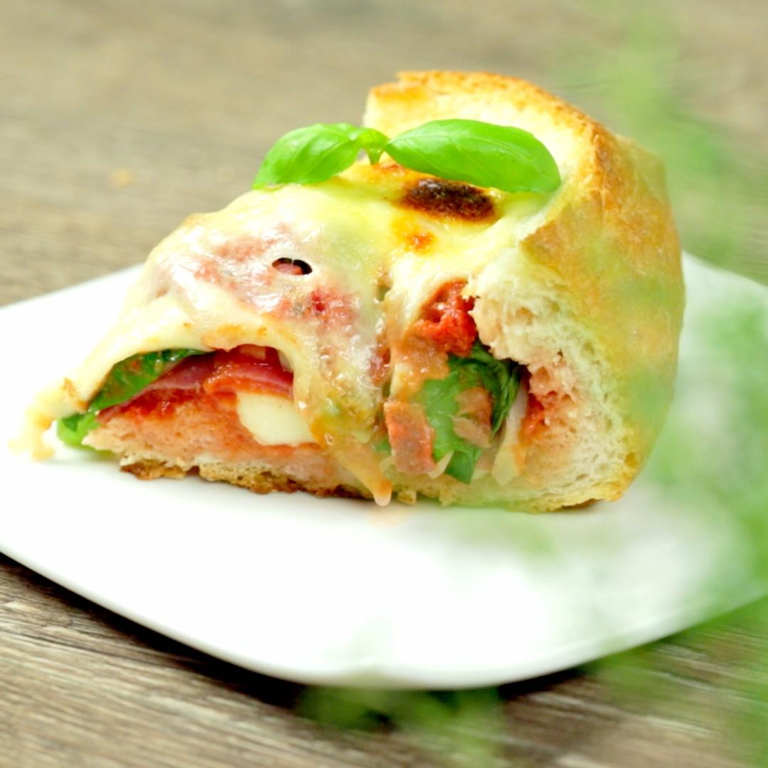 Salami and Mozzarella Stuffed Loaf