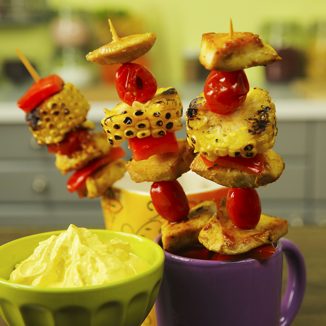Chicken and Sweet Corn Skewers