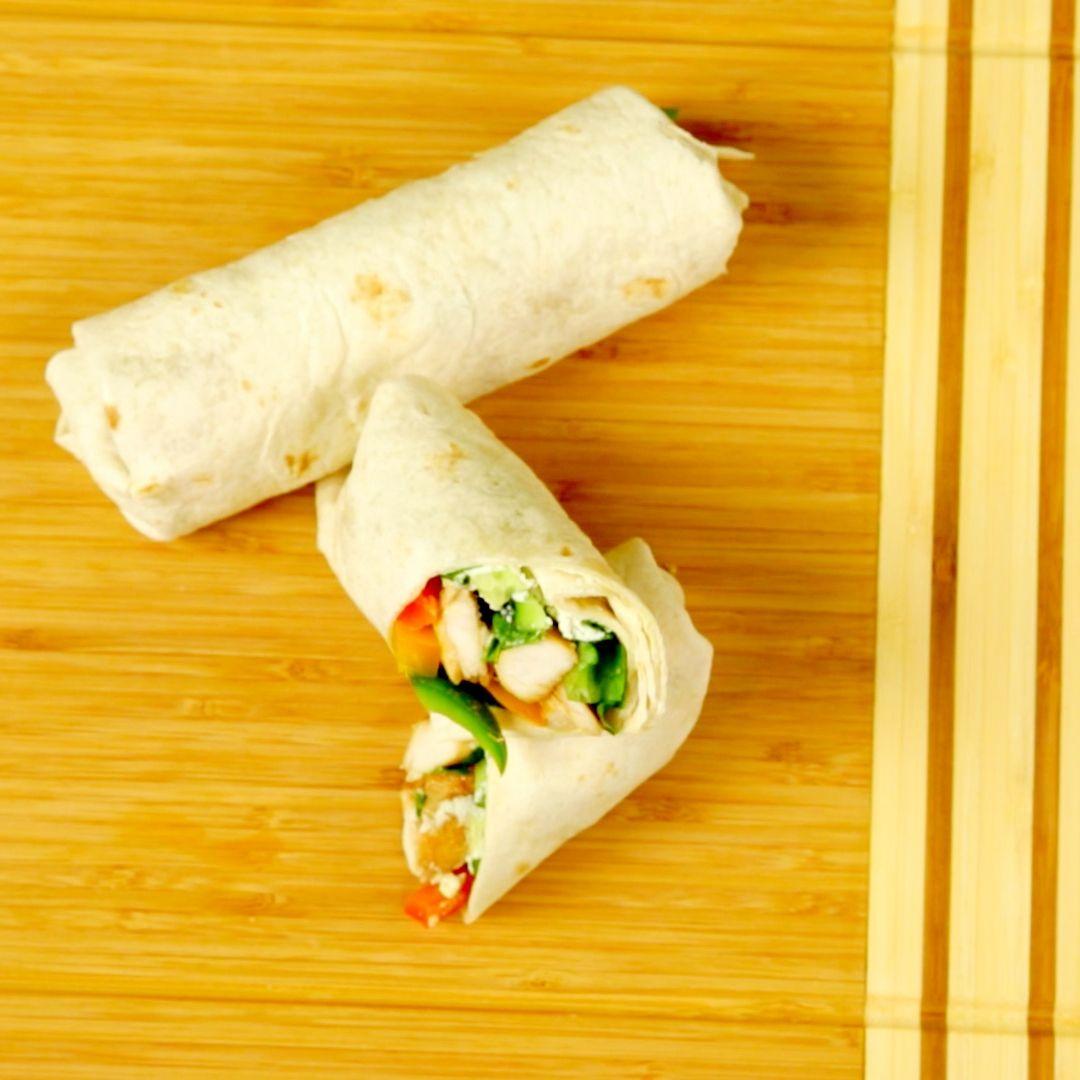 Chicken and Bell Pepper Tortilla Wrap
