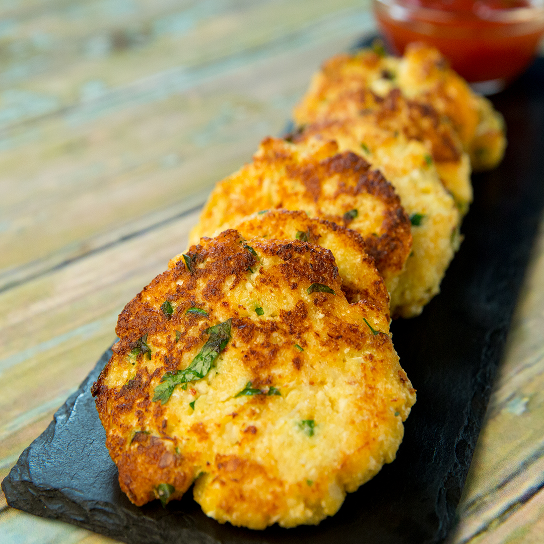 Cauliflower Fritters So Delicious