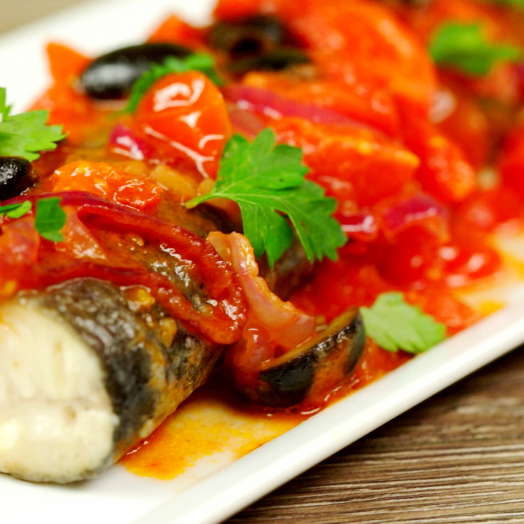 Trout with Cherry Tomato Sauce