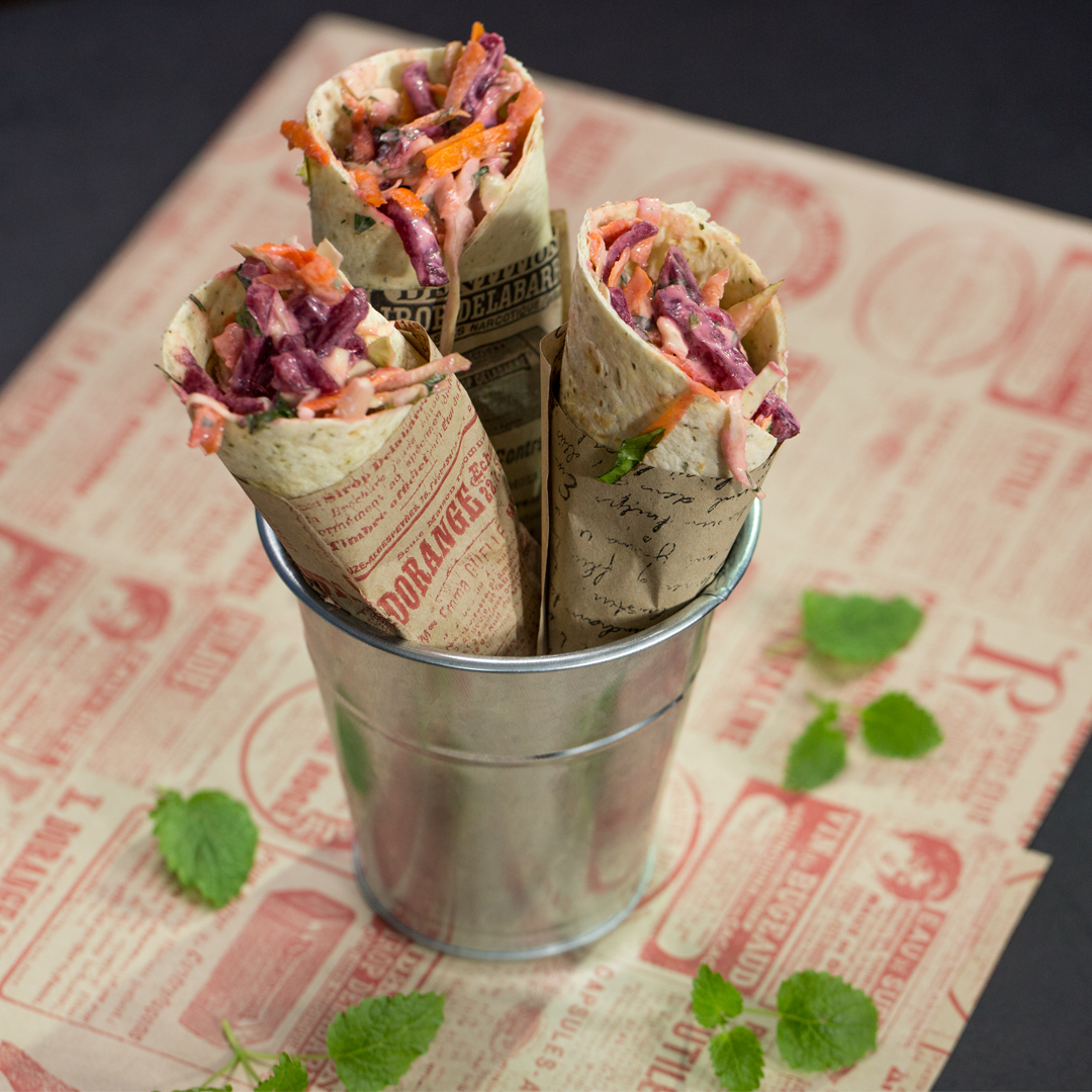 Coleslaw and Feta Wrap