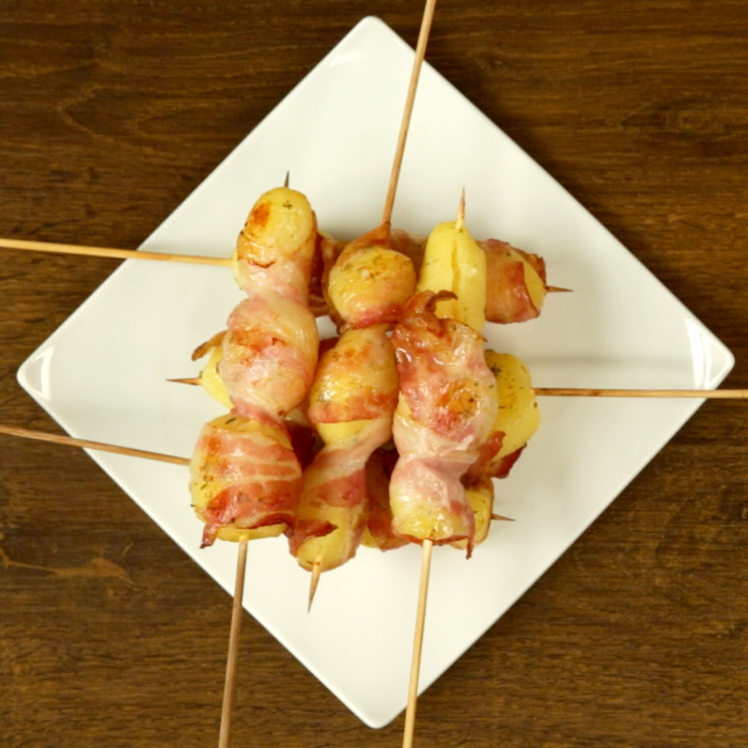 Bacon and Potato on Skewers