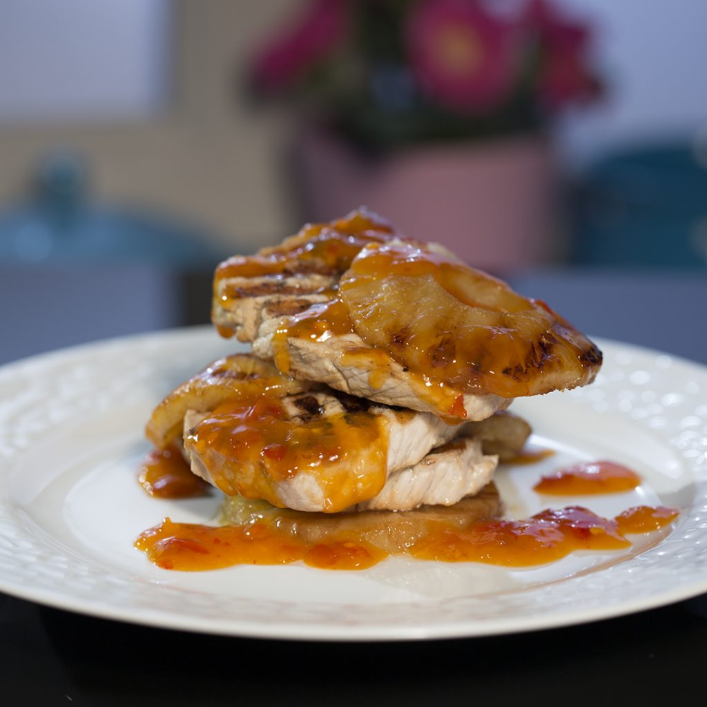 Grilled Pork Tenderloin with Pineapple and Spicy Sauce ...