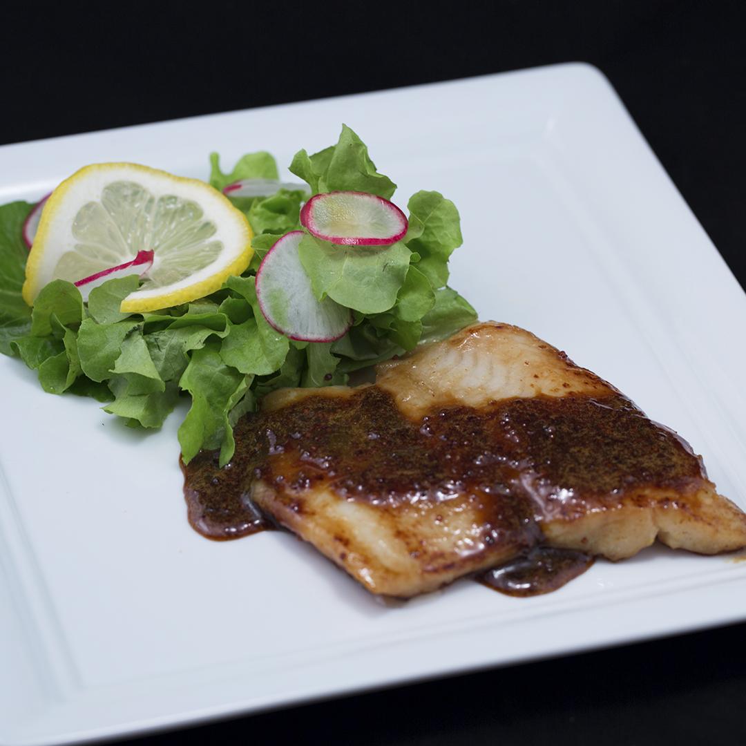 Mustard and Honey Pan-Fried Cod