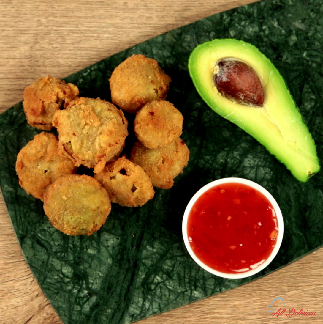 Avocado and Onion Fried Snack