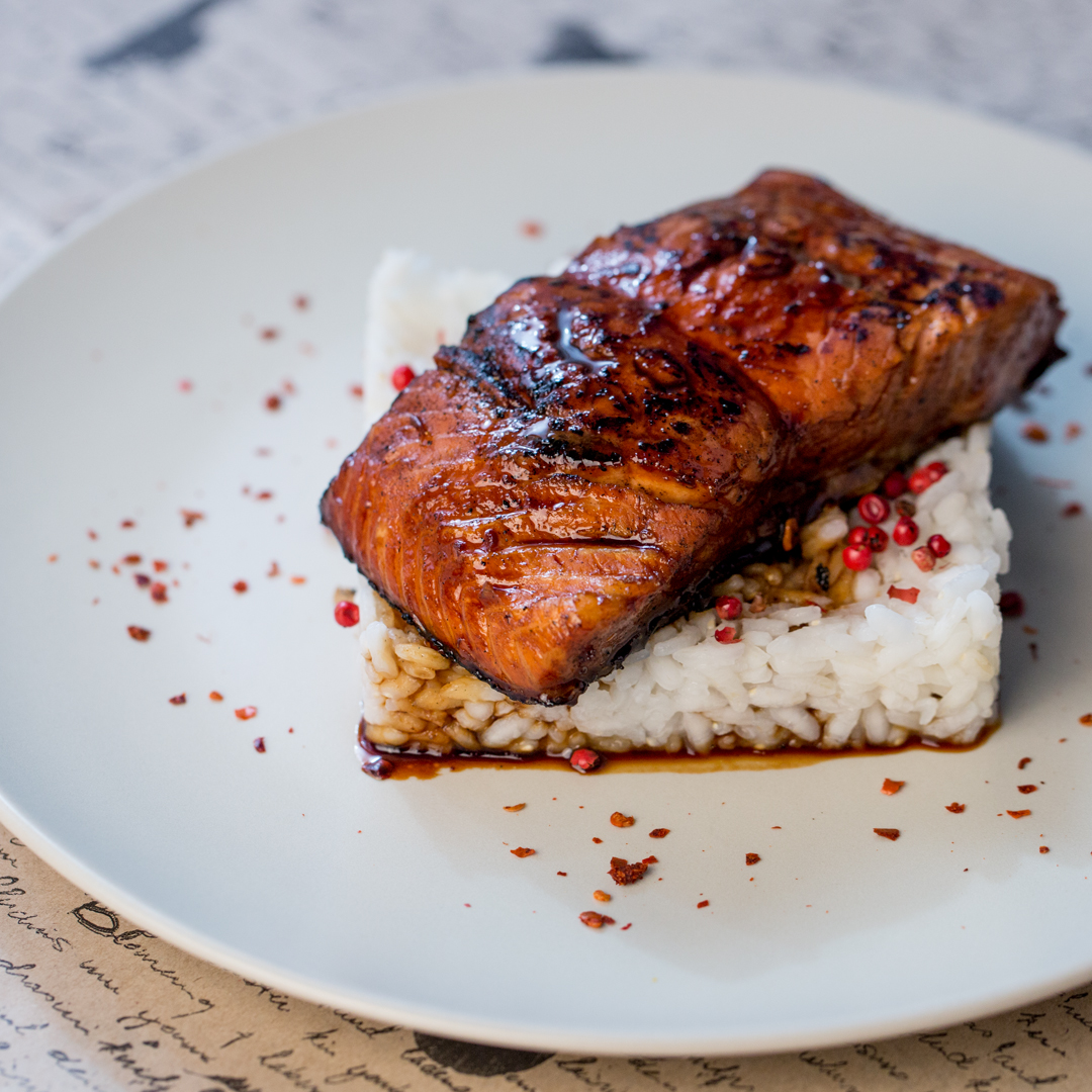 Soy Sauce and Cognac Marinated Salmon