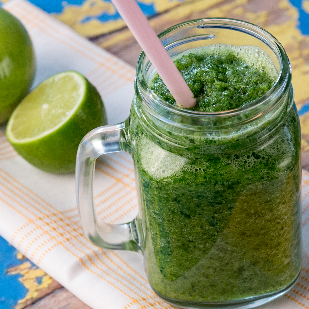Spinach, Pineapple and Kiwi Smoothie