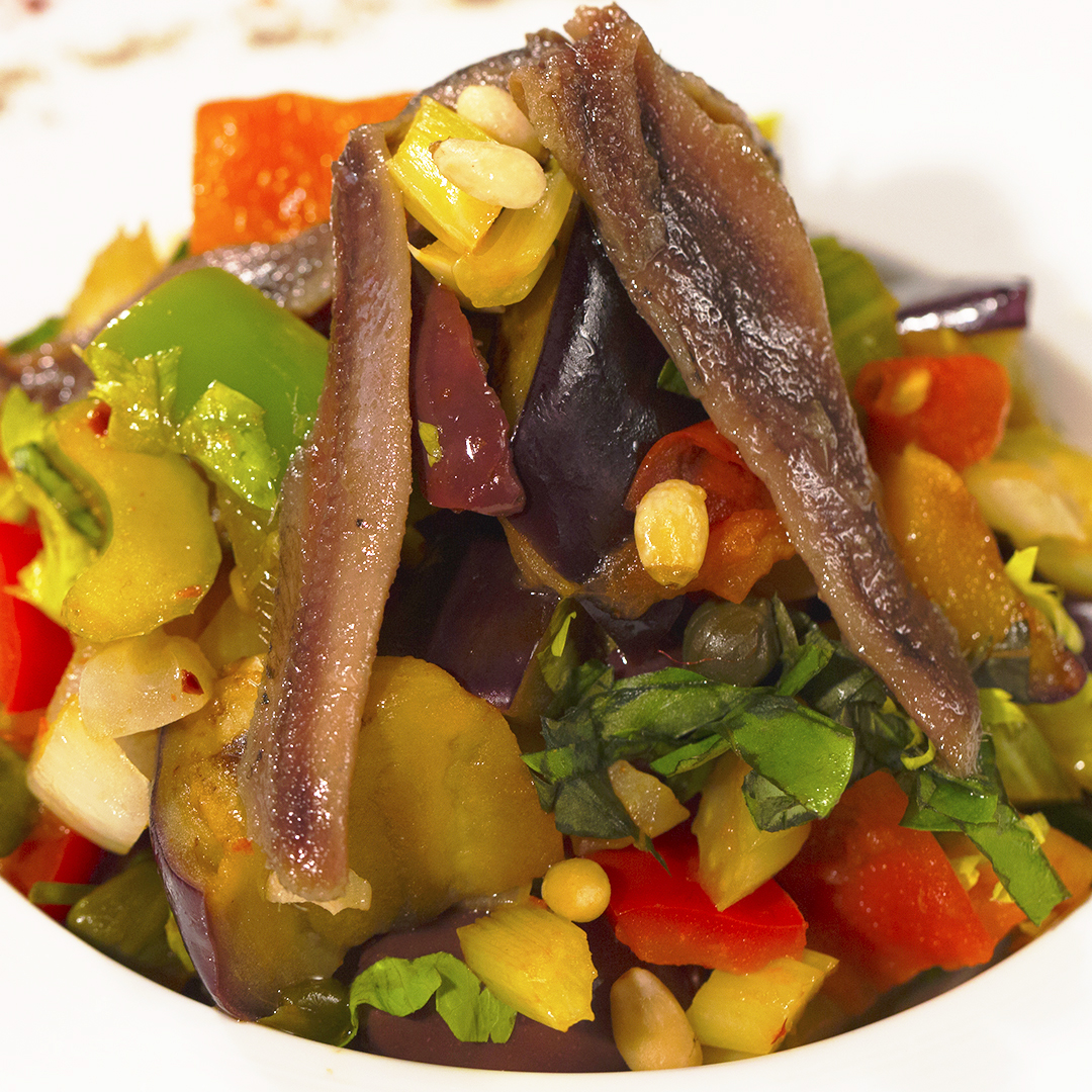 Warm Vegetable and Anchovy Salad