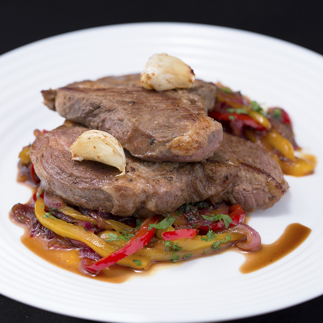 Pork Neck with Bell Pepper Stir-Fry